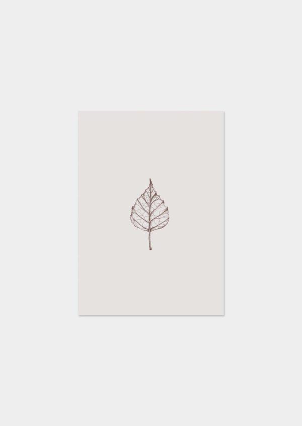 troostkaart berken blad inkylines